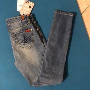 NWT 7 For All Mankind skinny denim jeans w/stretch